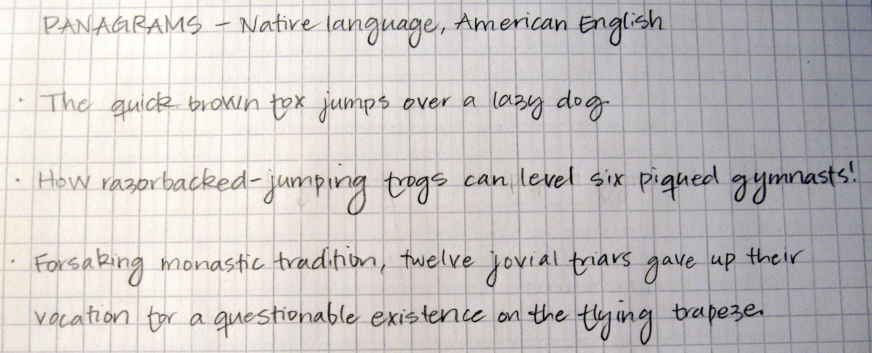 beautiful english writing